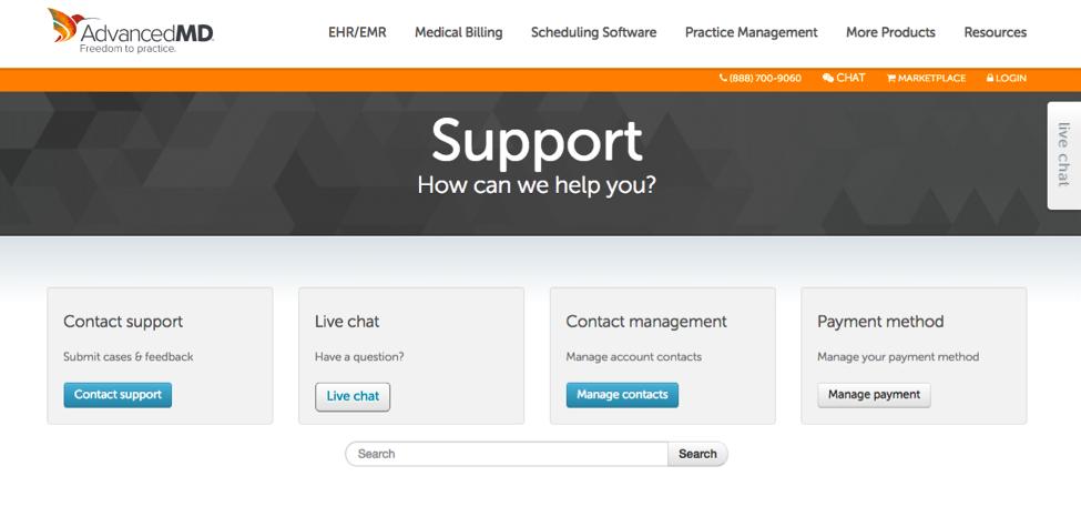 AdvancedMD Customer Support