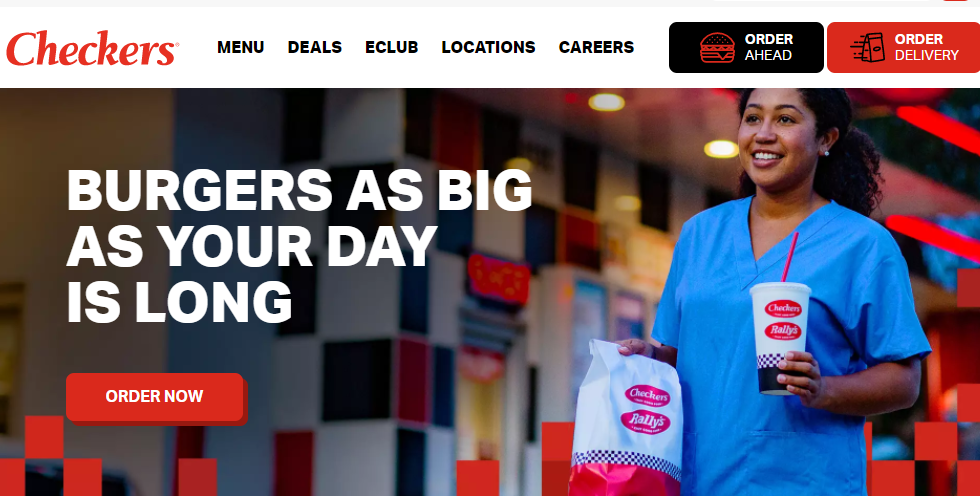 Checkers and Rally's Website