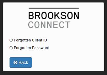 Brookson Connect Reset password