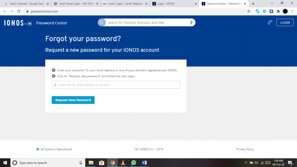 1and1 Login