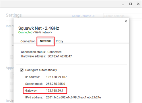 IP address of TP-Link Router