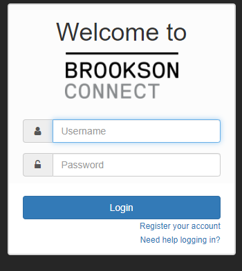 Brookson Connect Sign up