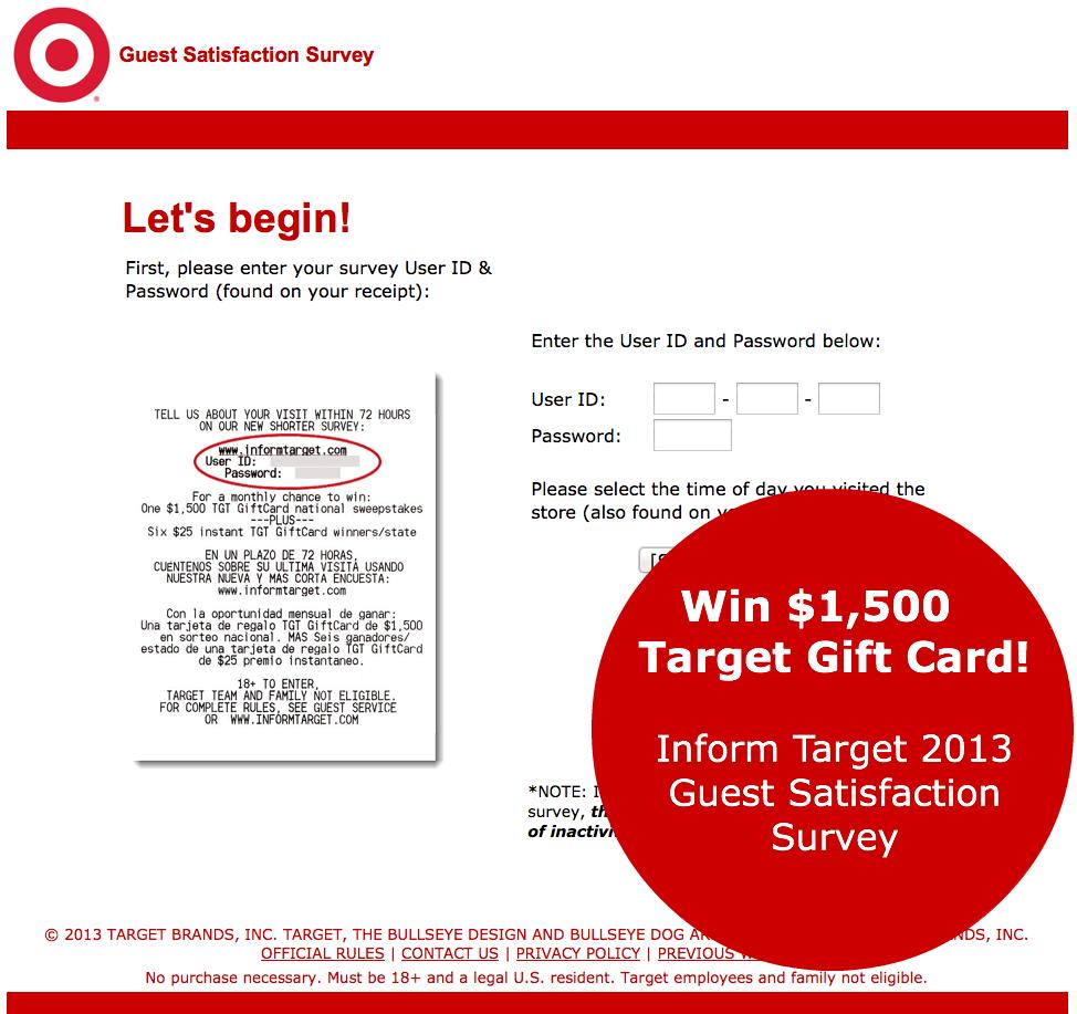 Target Survey Reward